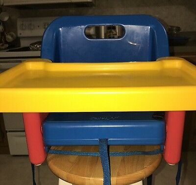 Toddler Booster Seat-High Chair w/Tray-Portable - Fold Up By Safety 1st - EUC