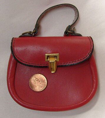 Vintage Red Leather Mini Purse Made in Italy