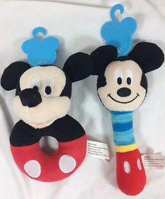 Just Play Mickey Mouse Disney Baby Toy Ring Rattle Never Used