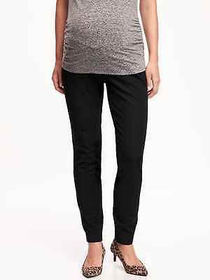 NEW Old Navy Maternity Full Panel PIXIE Black Pants - Size 8 Regular - NWT!!