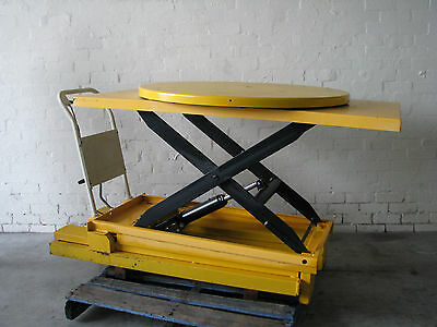 500kg Manual Hydraulic Scissor Lift Turntable - 1100mm
