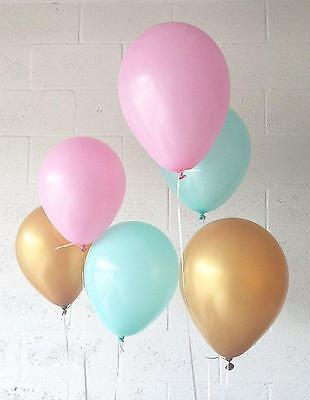 Gold, Pink & Mint Helium QLTY Balloon Set (30PCS)-Party Decorations/Balloons