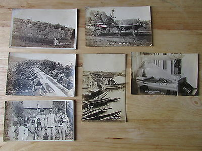 Early 1900's MANILA & SURROUNDING Area PHILIPPINES Real PHOTO Postcard GROUP #2