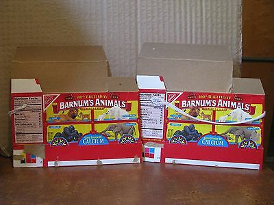 2 Nabisco BARNUM'S ANIMALS Crackers Box 100th Birthday 1902 - 2002 Lot