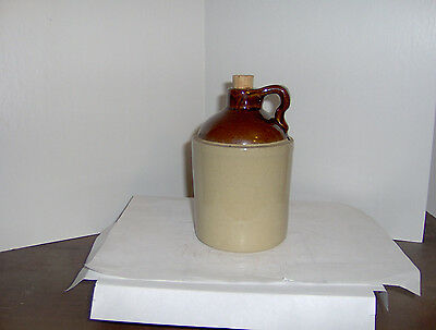 antique ceramic whiskey jug USA great shape small 5 3/4 tall