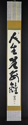JAPANESE HANGING SCROLL ART Calligraphy  Asian antique  #E4963