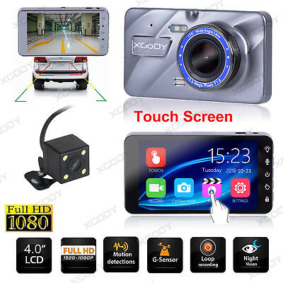 4'' Dual Lens G-sensor HD 1080P Car DVR Dash Cam Video Recorder Rearview Camera