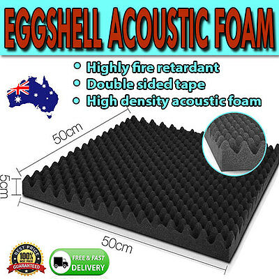50 x 50cm Eggshell Acoustic Music Sound Proofing Foam Musician DJ
