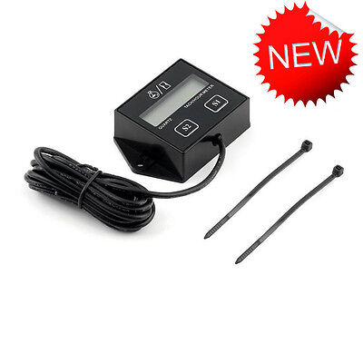 NEW Digital Engine Tach Tachometer Hour Meter Inductive for Motorcycle Motor XP
