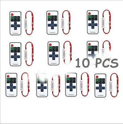 2/5/10PCS 12V RF Wireless Remote Switch Controller Dimmer for LED Strip Light XP