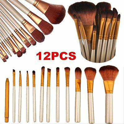 Makeup Cosmetic 12pcs Brushes Set Powder Foundation Eyeshadow Lip Brush Tool WU