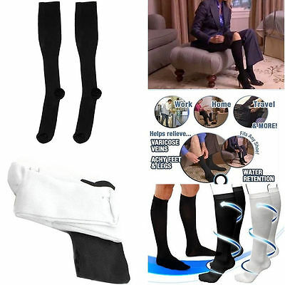 Comfortable Relief Soft Unisex Miracle Copper Anti-Fatigue Compression Socks WU