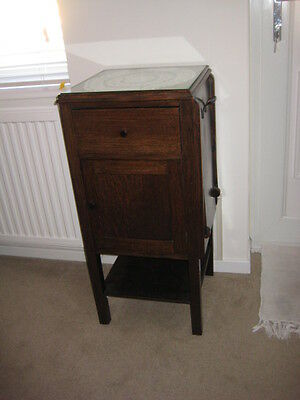 Antique Edwardian Pot cupboard / bedside cupboard with drawer and Tray
