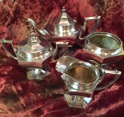Sterling silver 4-piece tea set, R. Wallace and Sons