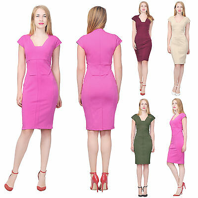 f5fb466370a Marycrafts Women s Formal Bodycon Work Office Business Knee Length Dress  Dresses