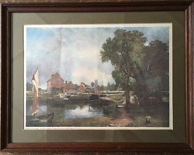 """The Mill At Dedham by John Constable Print Mounted And Framed 18.5"""" X 14"""""""