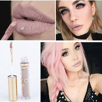 Matt Damen Lippenstift wasserdicht Lippen Stift Lip Gloss Make up Nude Farbe NEU