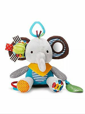 Pram Buggy Toy Elephant Rattle Teether Activity Baby Toddler Soft Toy Brand New