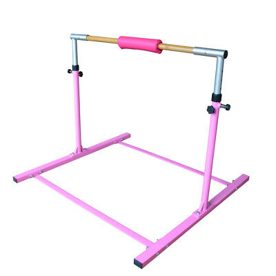 Pink Gymnastics bar High bar Uneven Bar Asymmetric Bar Training Hardwood Bar New