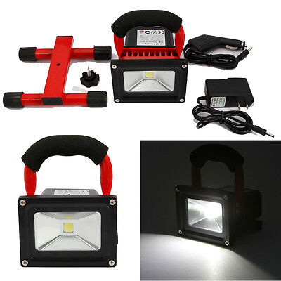 2PCS 10W LED Portable Rechargeable Flood Light Outdoor Lamp Camping Hiking Light