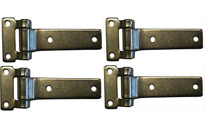 4 x Door Hinge Side Locker Zinc Steel Gate Shed Truck Lorry Motorhome Horse