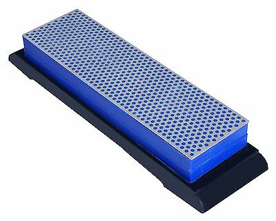 Ansen Tools Grit Sharp AS-406 8-5/8 -Inch Double-Sided Diamond Whetstone with
