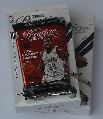 Panini Prestige 2014-15 Nba Trading Cards Pack Lot Of 2 + 3 Hobby Packs New