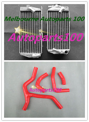 Brand New aluminum radiator+red silicone hose for HONDA CRF450R 2015 2016 15 16
