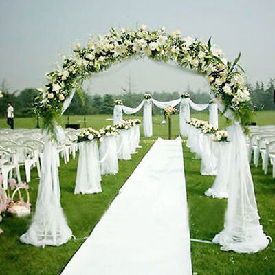 15FT x 3 FT White Wedding Aisle Runner Marriage Ceremony Carpet Roll Party Decor