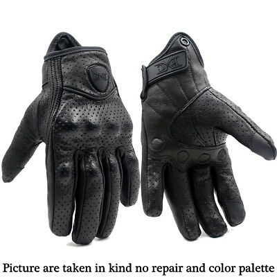 NEW Summer Premium Leather Motorbike Motorcycle Protective Armor Short Gloves