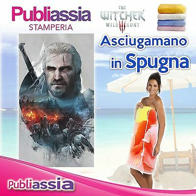 Asciugamano Telo Mare in spugna THE WITCHER