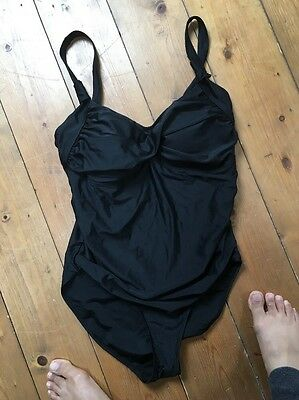 Mamas and Papas M&P Black Maternity Swimming Costume Suit  Size 12