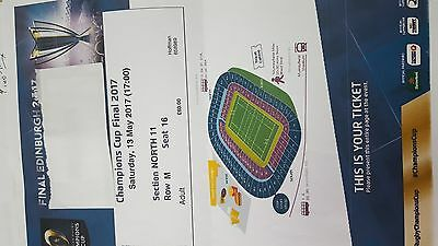 Rugby Champions Cup Final Tickets (*2) 2017