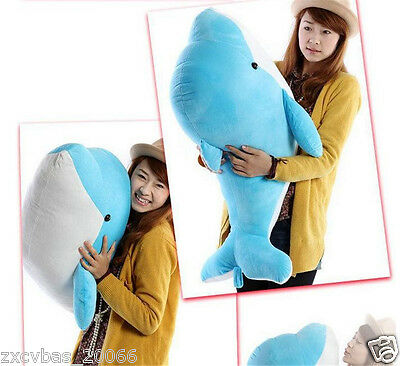 100cm Plush Soft Big Dolphin Stuffed Animal Toy Doll Birthday Gift
