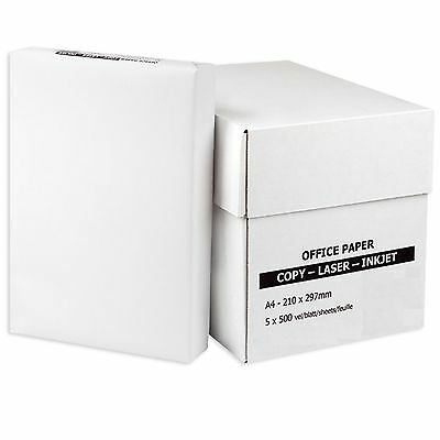 Everyday A4 White Paper 80Gsm Printer Copier | 1 2 3 4 5 Reams Of 500 Sheets Uk