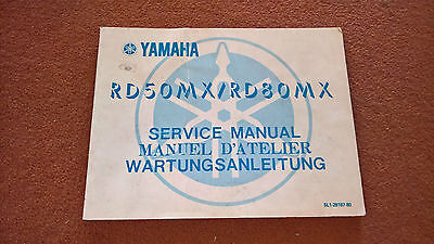 Used Genuine Yamaha Service Manual 5L1-28197-80 RD50MX RD80MX Owner's Workshop