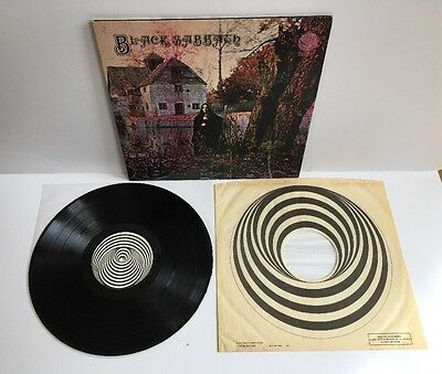 BLACK SABBATH SELF TITLED  UK 1970 Vinyl LP Vertigo Swirl Inner 'Ossie' Misprint