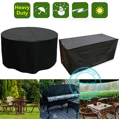 Outdoor Furniture Cover 2-10 Seater Patio Garden Table Chair Waterproof Shelter