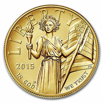 2015W $100 American Liberty High Relief 1Oz Gold Coin.