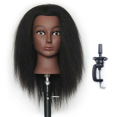 Training Heads Hairdressing 100 Real Yak Hair Styling Mannequin Manikin Doll...