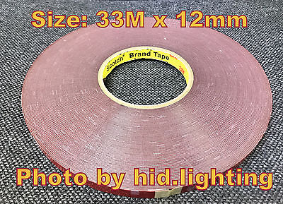 3M 12mm x 33m Acrylic Foam Tape 4229P double sided Car Adhesive Home Office DIY