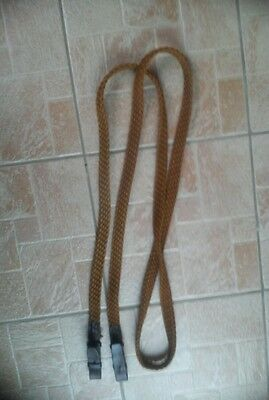 Long Brown Plaited Reins