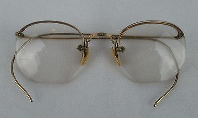 Vintage American Optical Gold Filled Glasses Frames with Case Semi Rimless