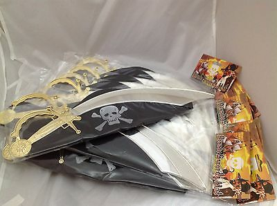 B52 699 3x Fancy Dress Kids Pirate Foam Sword 21 Inch Quick Post UK