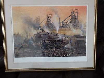 Terence Cuneo Signed L/Edition Railway Print - Last of the Steam Workshorses