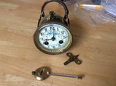 French Clock Movement With Pendulum And Key ( Lot B)