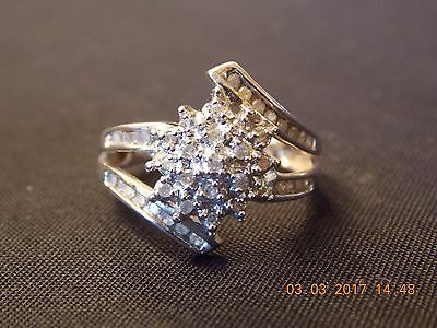 Scrap Gold Jewelry 3.7 grams Solid 10K Size 7 White Gold Ring