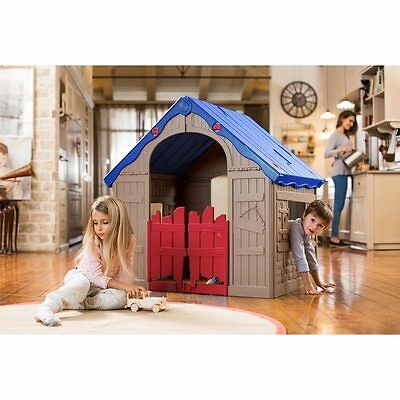 Toy Toddler Play House Big Plastic Outdoor Kids Indoor Folding Fun Easy to Store