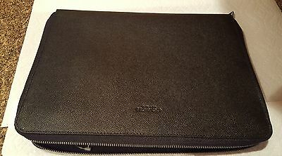 NWT Coach Men's Textured Leather Business  Portfolio F59119 Black $275 msrp