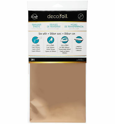 "Deco Foil Transfer Sheet 6""X12"" 20/Pkg-Rose Gold"